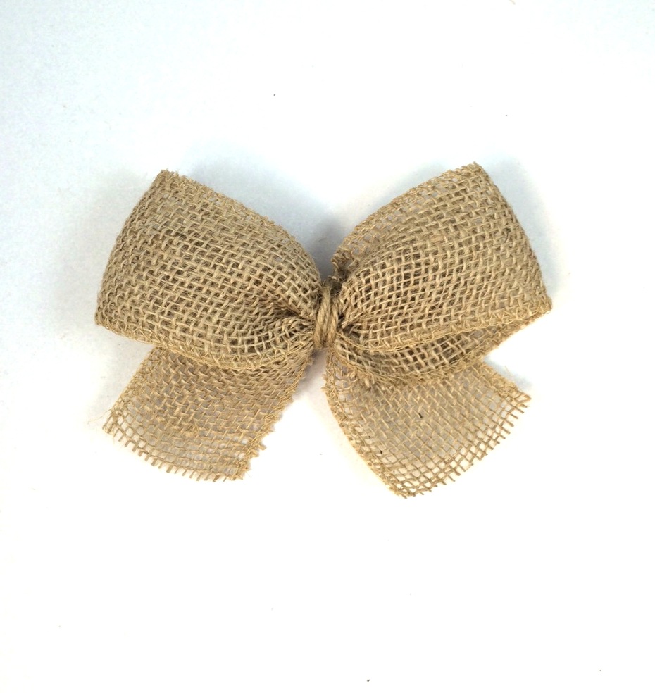 Simple burlap bow s s blog for What to make with burlap