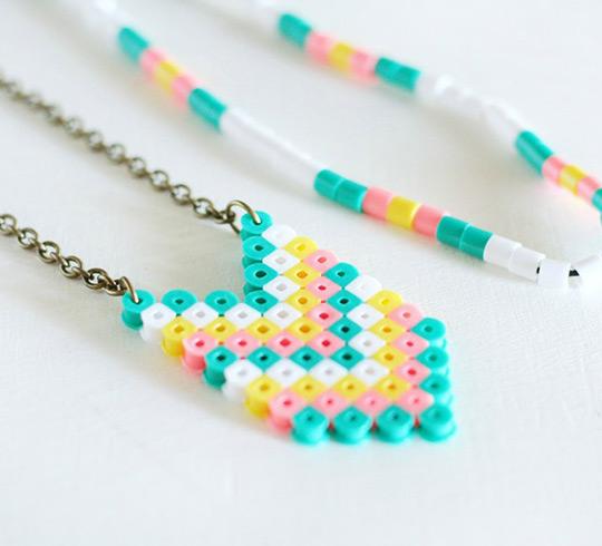 fuse bead neclace