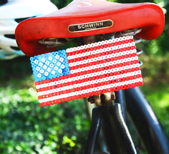 fuse bead crafts bike plate