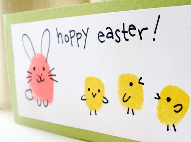 easter card ideas for children to make