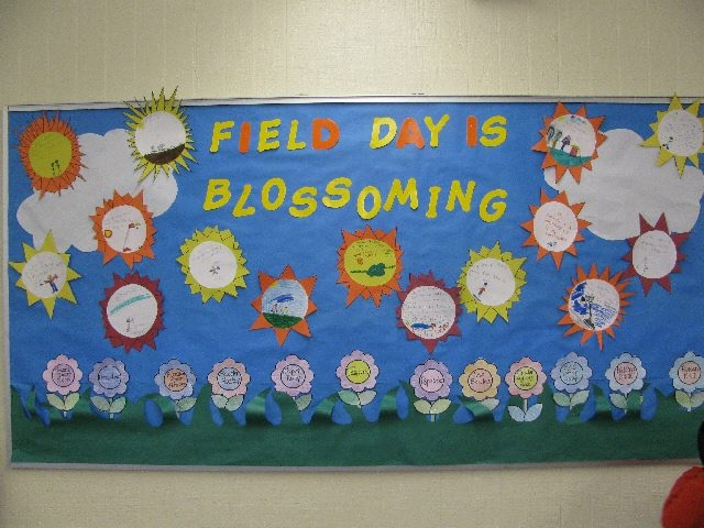 Field Day bulletin board