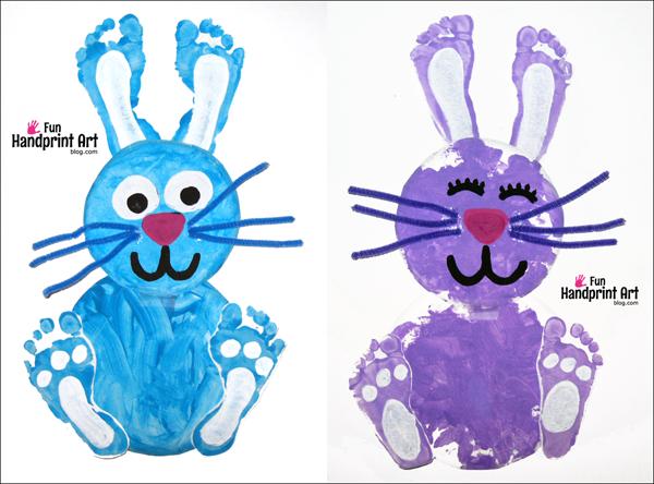 Bunny Rabbit Footprint Craft