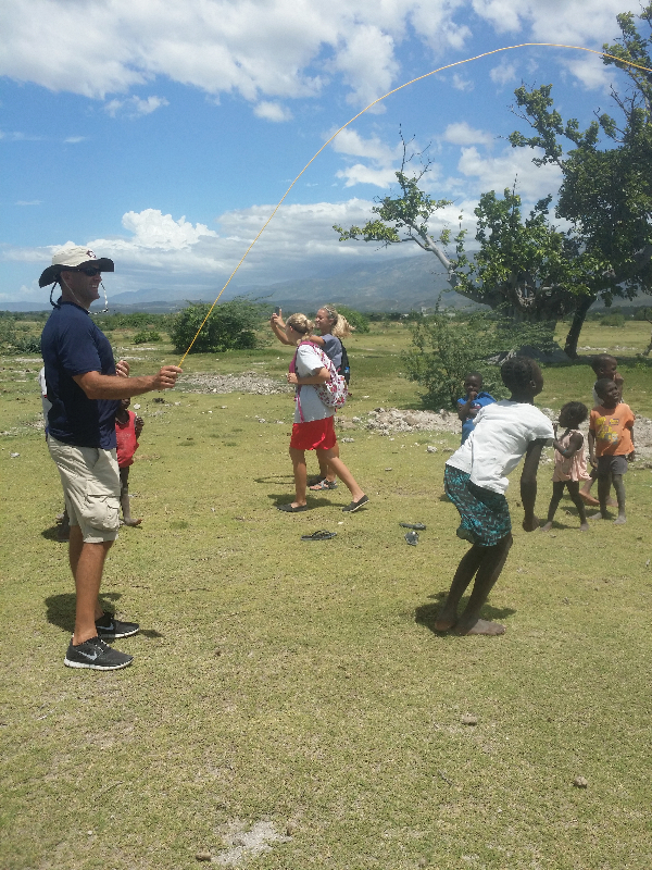 Playing with Children in Haiti