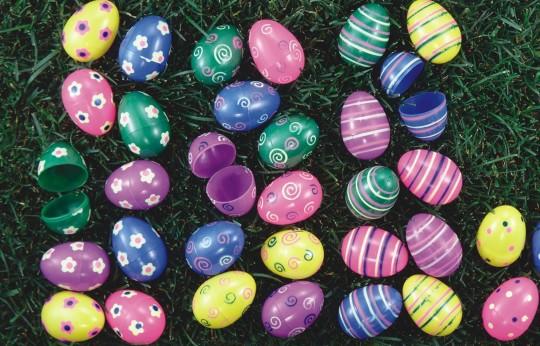 plastic Easter eggs activities