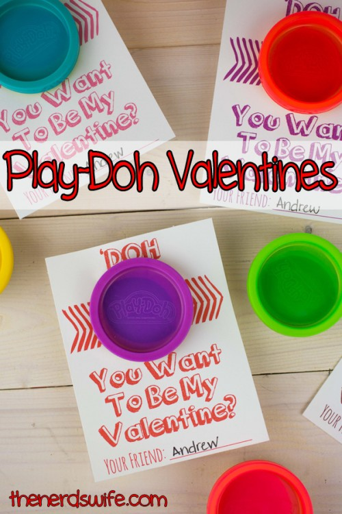play doh valentines cards with printable