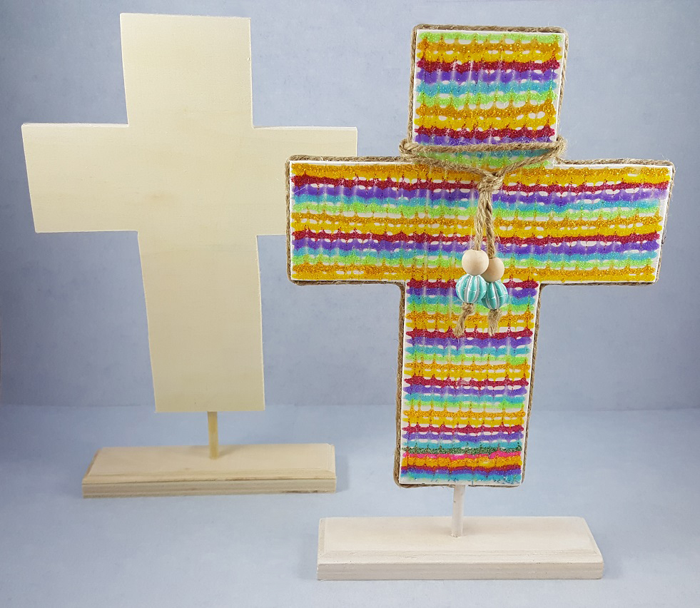 Wooden cross christian craft