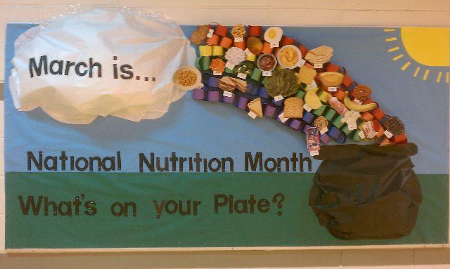 Classroom Bulletin Board Ideas Nutrition Month : Pe bulletin boards lessons plans for nutrition month s