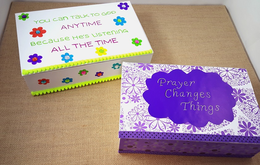 Diy prayer box christian craft for kids s s blog for Craft box for toddlers