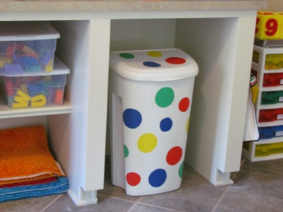 fun trash can preschool