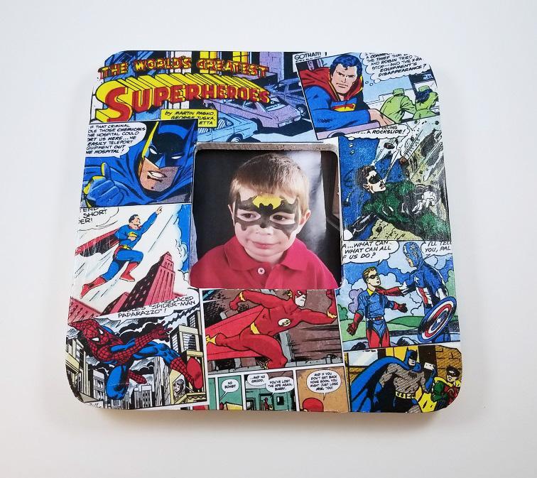 superhero comic frame