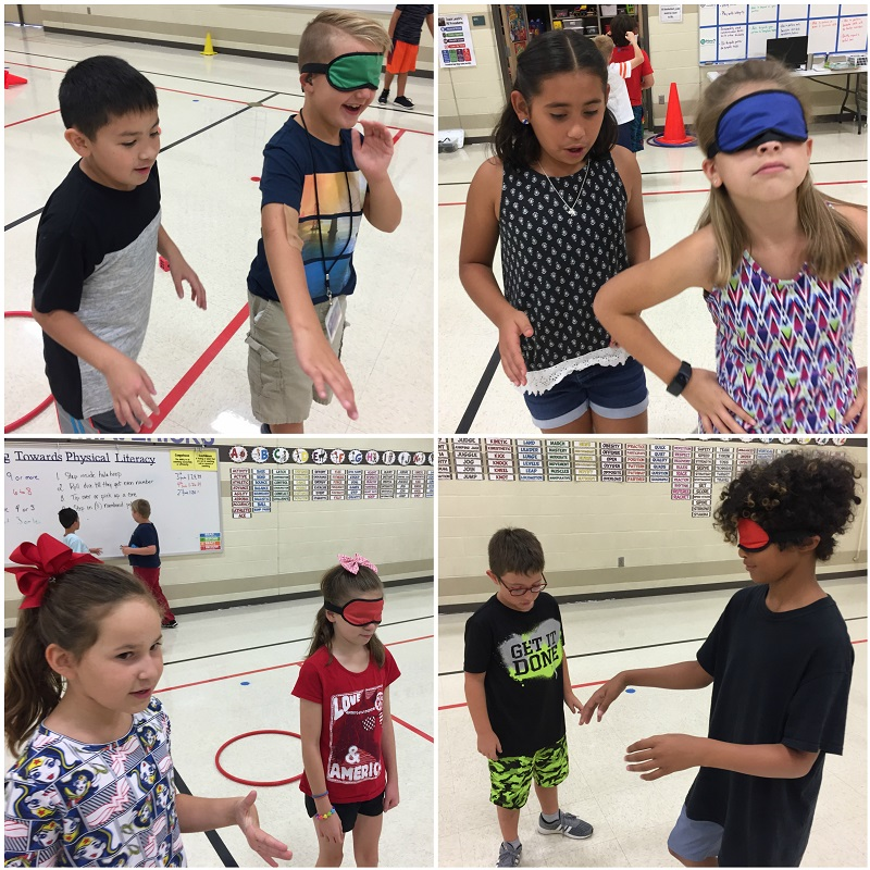 blindfold activities PE