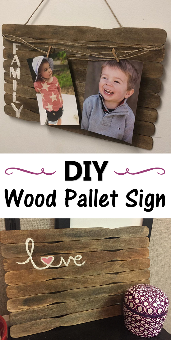 DIY wood pallet signs