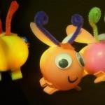 DIY Glow Bugs Using Plastic Eggs
