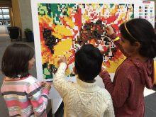 stick together collaborative art