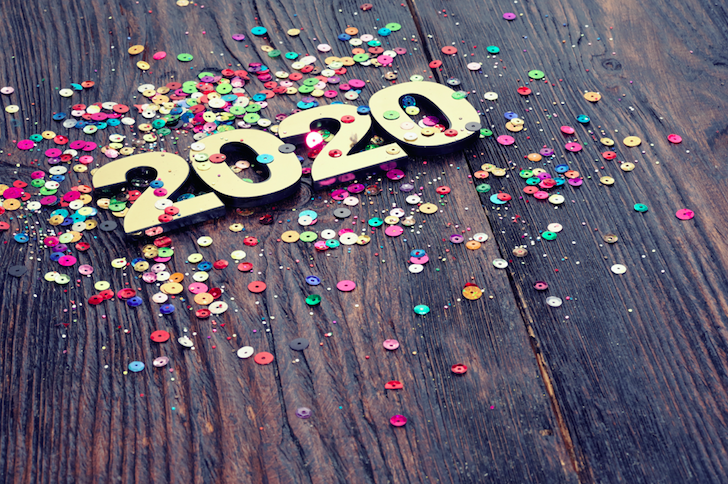 2020 stock image