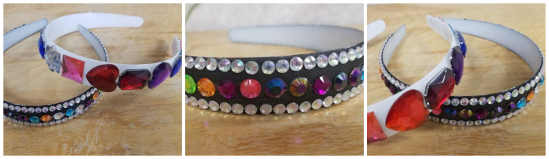 Acrylic Gemstone Headband