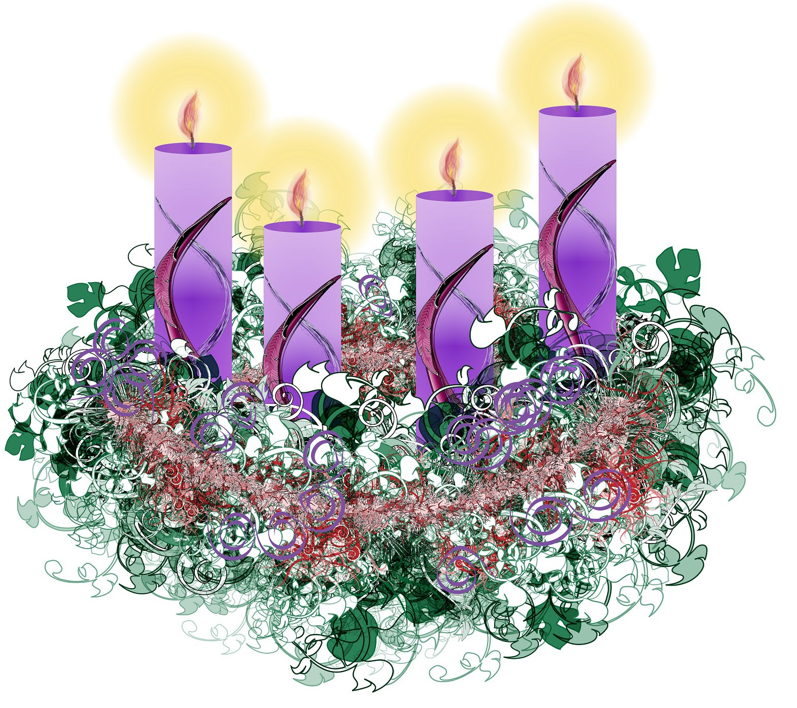 no flame advent wreath