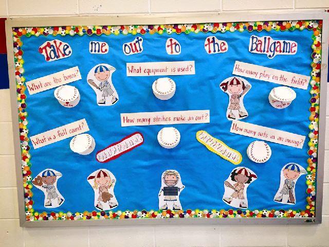 baseball PE board