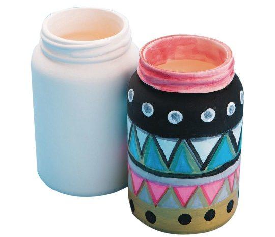 Bisque Mason Jar