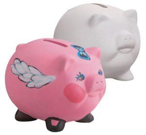 Bisque Piggy Banks