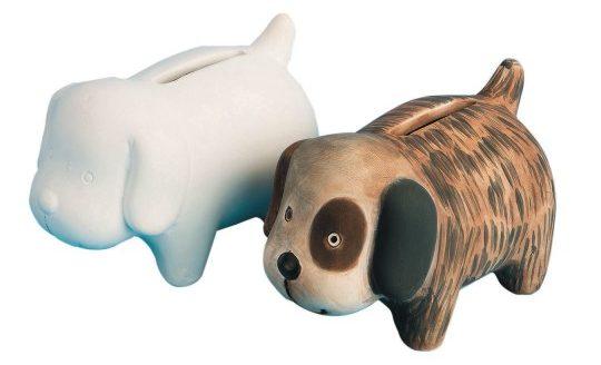 Bisque Puppy Bank