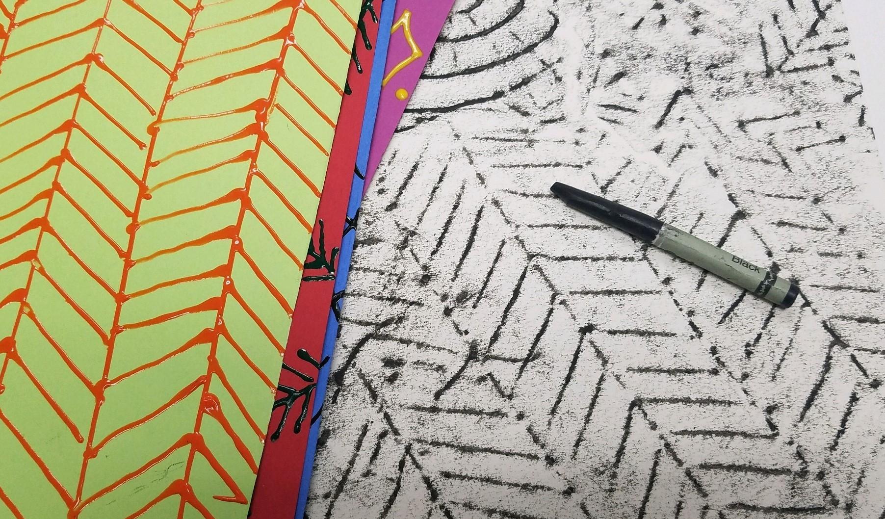 Black Crayon Rubbing Resist Activity