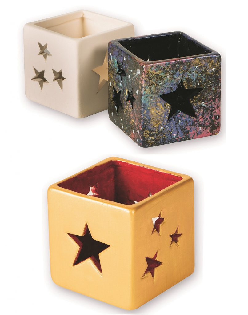 Ceramic star votive