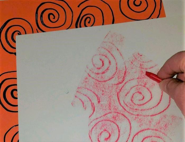 Crayon Resist Rubbing Activity