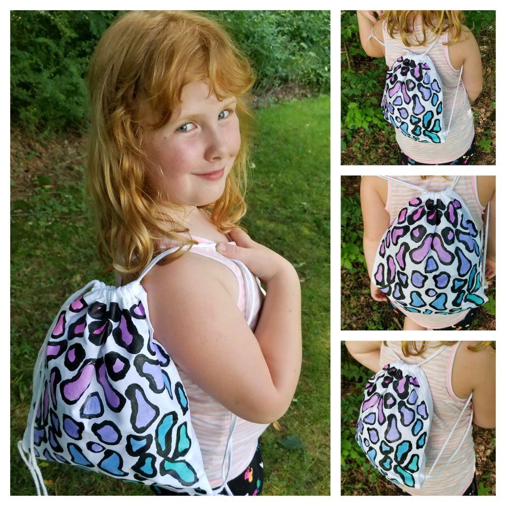 DIY Cheetah Print Backpack Audrey 2
