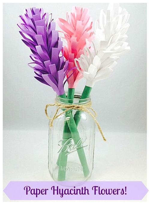 DIY Paper Hyacinth Flower Craft