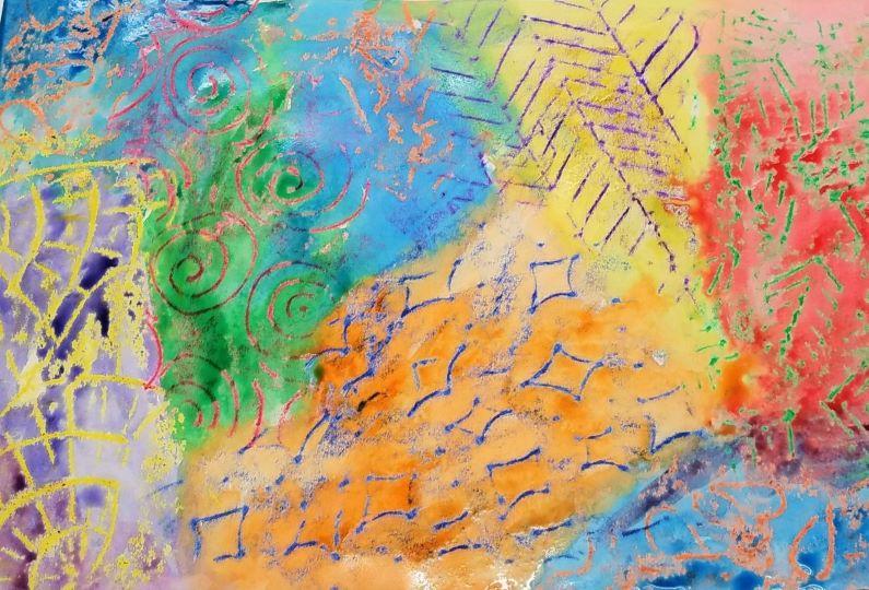 DIY Watercolor Crayon Resist Art Activity