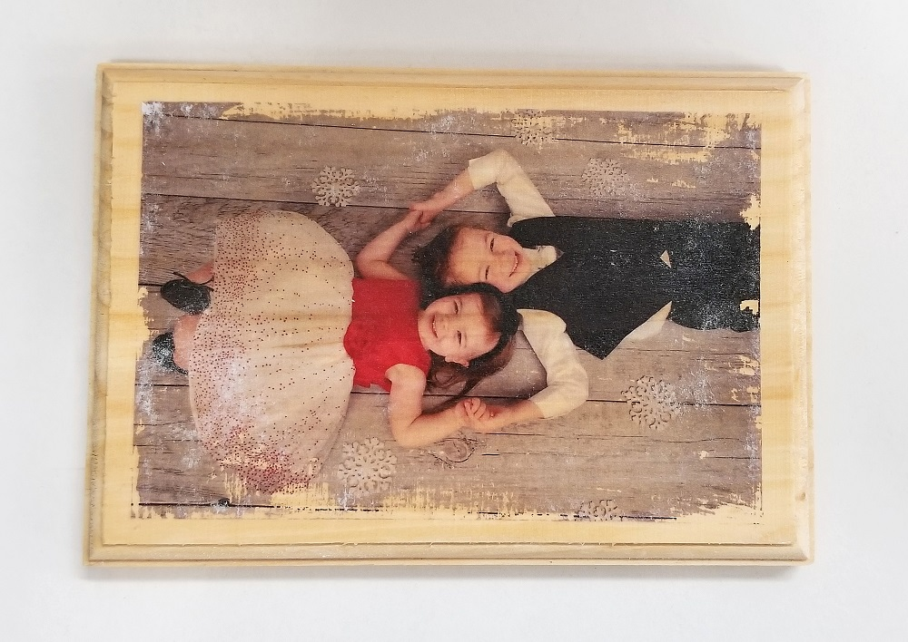 wood photo plaque