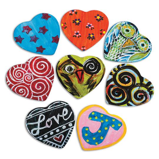 DIY heart magnets