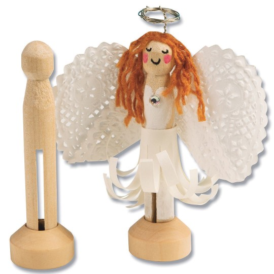 DIY Wooden Doll Pin Angel Craft