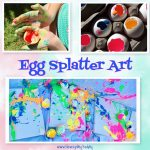 DIY Canvas Painting – Egg Splatter Art