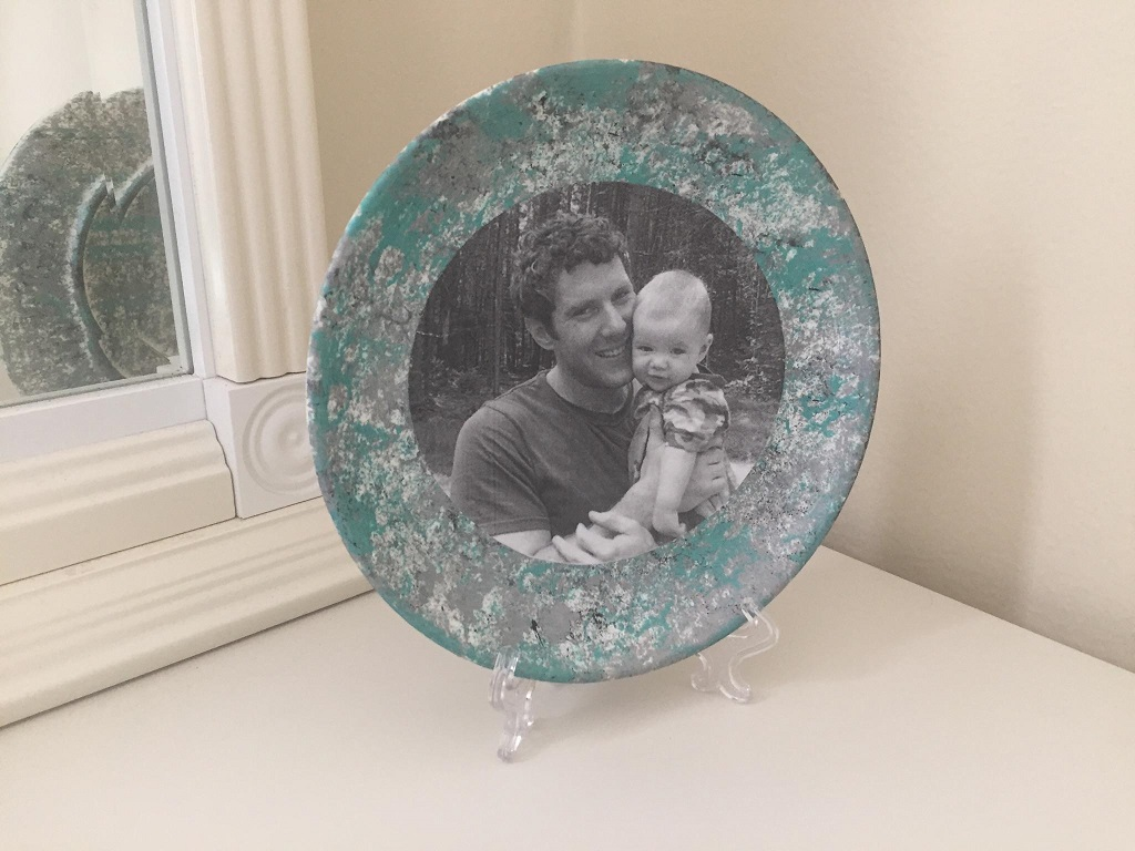 Father's Day Photo plate