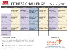 February Fitness Challenge Calendar 2021