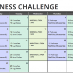 April Printable Fitness Challenge Calendar