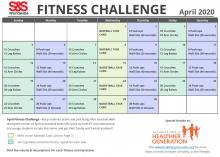 Fitness Challenge Calendar April 2020