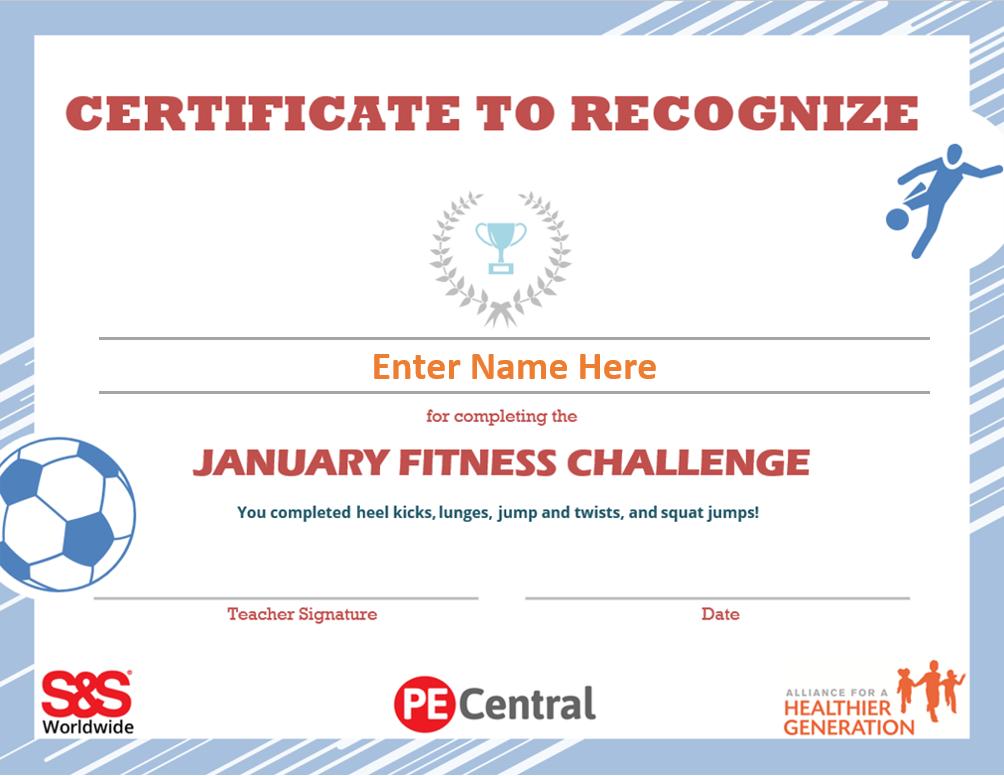 Fitness Challenge Calendar Award 2021