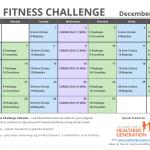 December Printable Fitness Challenge Calendar