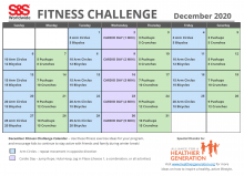 Fitness Challenge Calendar December 2020
