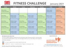 Fitness Challenge Calendar January 2021