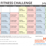 July Printable Fitness Challenge Calendar