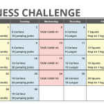 June Printable Fitness Challenge Calendar