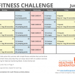 June Printable Fitness Challenge Calendar
