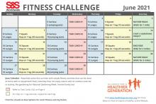 Fitness Challenge Calendar June 2021