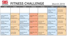 Fitness Challenge Calendar March 2019