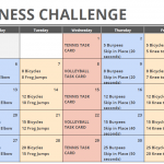 May Printable Fitness Challenge Calendar