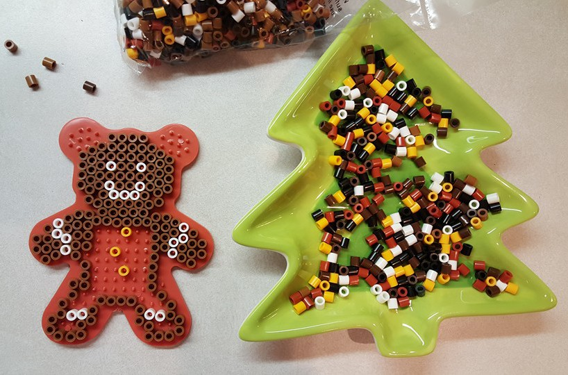 gingerbread man fuse beads